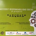 Aequal, premio a mejor proyecto empresarial de Responsabilidad Social 2013